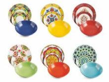 Vajilla Colores Gdd0 Villa D Este Calamoresca Vajilla De 18 Platos Gres Y Porcelana De