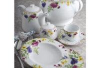 Vajilla De Porcelana 3ldq Vajilla Primavera Idurgo Fabricada En Porcelana