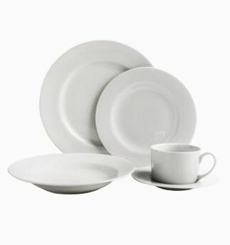 Vajilla De Porcelana 9fdy Juego De Vajilla Porcelana Blanca 20 Piezas 4 Personas 1 945 62