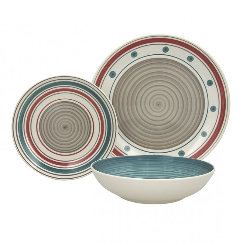 Vajilla De Porcelana Drdp Vajilla Porcelana 18 Pz Louise Genie