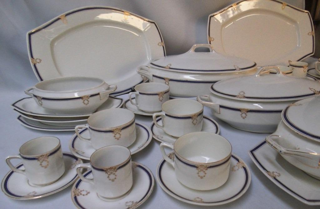 Vajilla De Porcelana E6d5 Antigua Vajilla Porcelana Alemana Kpm Tazas sopera U3 6 900 00