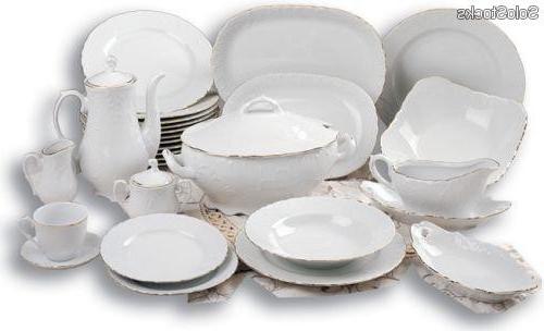 Vajilla De Porcelana Gdd0 Vajilla J Cafà En Porcelana Labrada Alemana Y Filo oro 83 Pzs