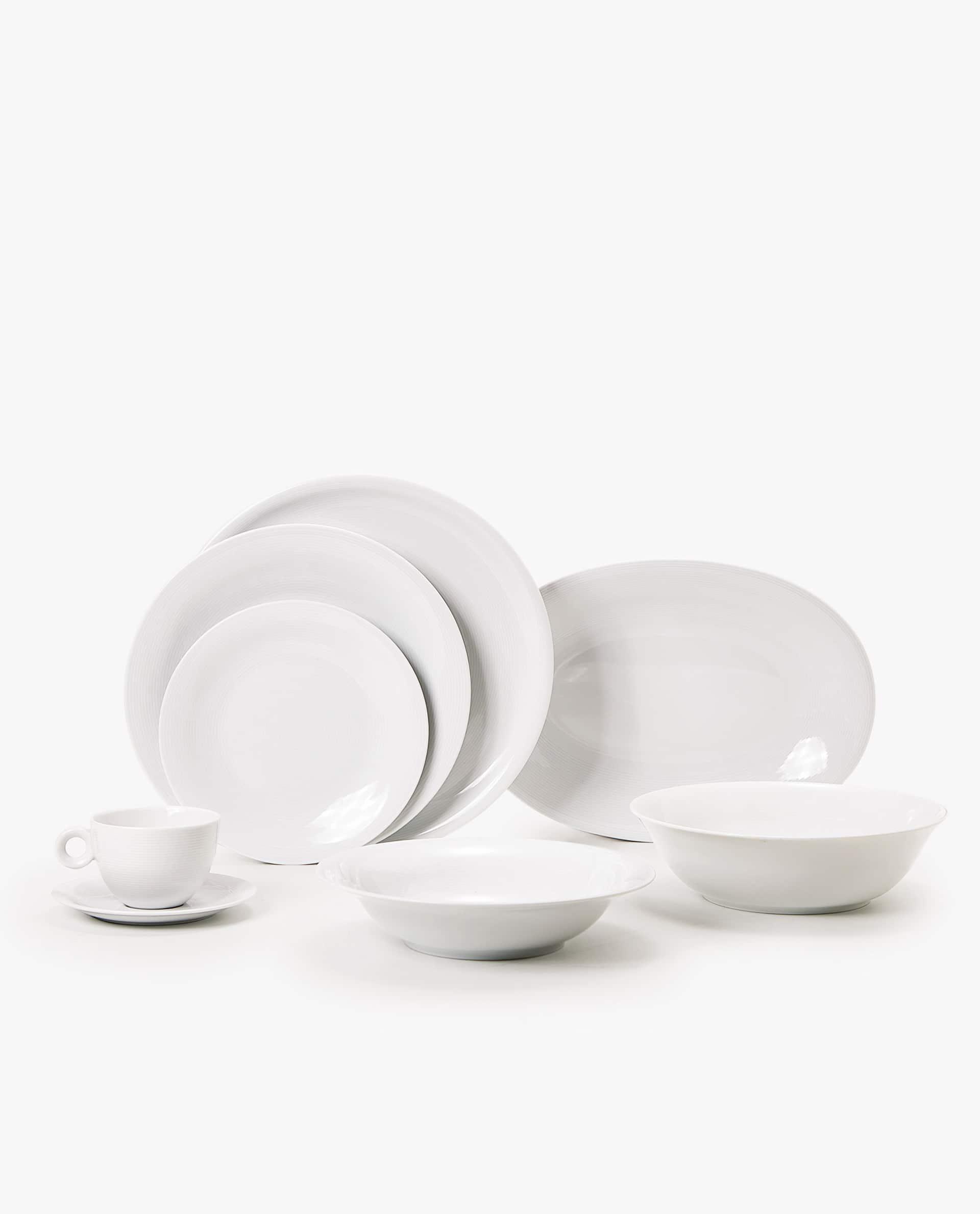 Vajilla De Porcelana X8d1 Vajilla Porcelana Blanca Esenciales Edor Zara Home Uruguay