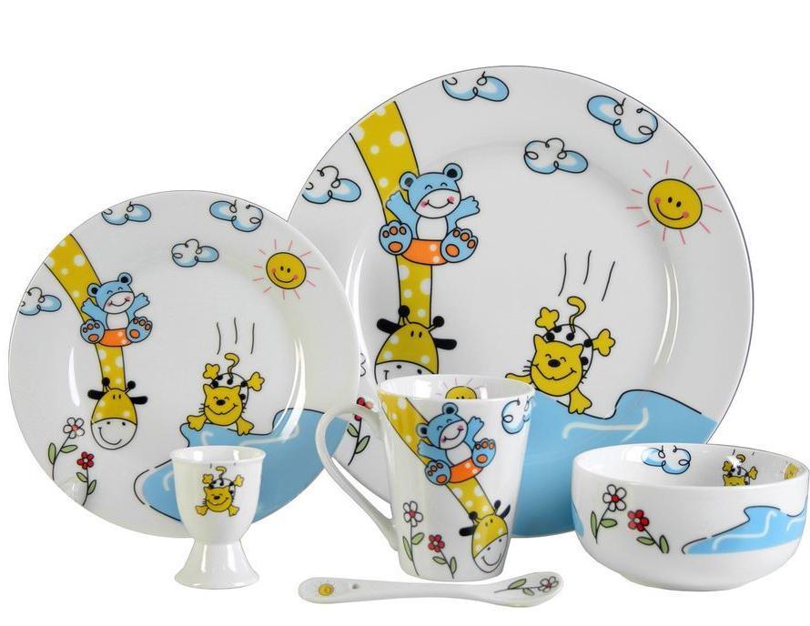 Vajilla Infantil Porcelana Etdg Vajilla Infantil Animales 6 Pzas Porcelana Personalizada Con Nombre