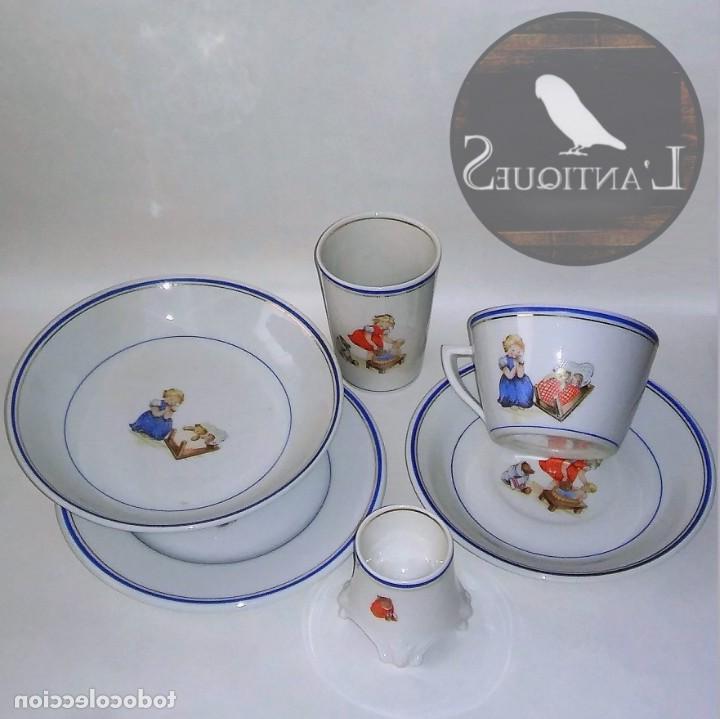 Vajilla Infantil Porcelana Ftd8 Antigua Vajilla Infantil En Porcelana Platos Prar Botijos