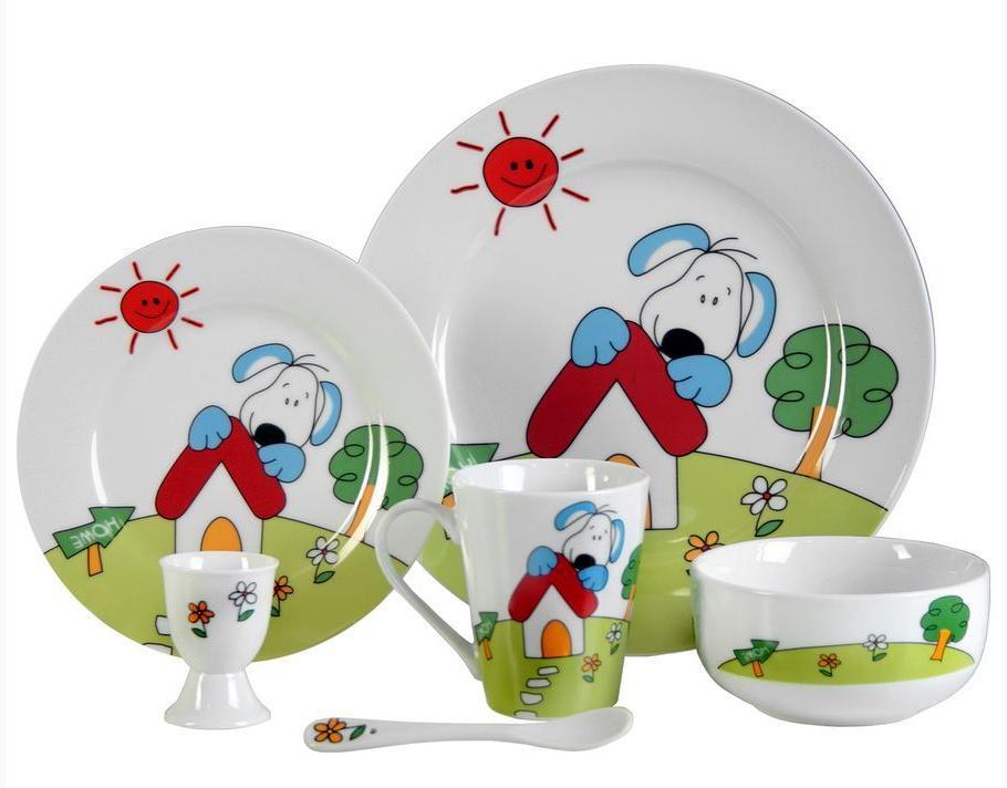 Vajilla Infantil Porcelana Ipdd Vajilla Infantil Perro 6 Pzas Porcelana Personalizada Con Nombre