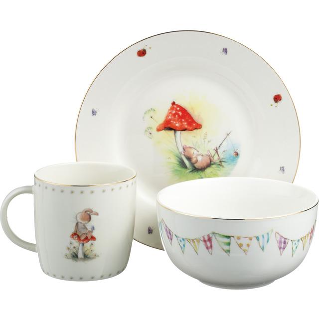 Vajilla Infantil Porcelana Txdf Vajilla 3 Piezas Esas Pequeà as Cosas Little Treasures Porcelana