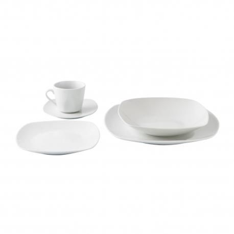 Vajillas Cuadradas H9d9 Vajilla Porcelana Blanca Cuadrada 30 Piezas Novo Vinci