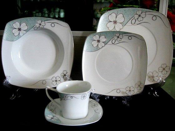 Vajillas Cuadradas J7do Porcelana forma Cuadrada Vajilla Juegos De Vajilla De Porcelana