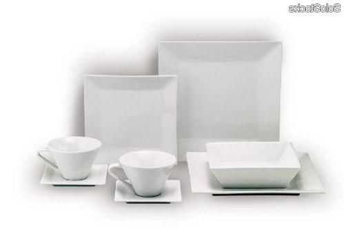 Vajillas Cuadradas O2d5 Vajilla Porcelana Blanca forma Cuadrada Estilo Japones 20 Piezas Al