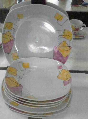 Vajillas Cuadradas Tldn Juego De Vajillas Cuadradas 20 Pzas Porcelana Nuevas En Venezuela