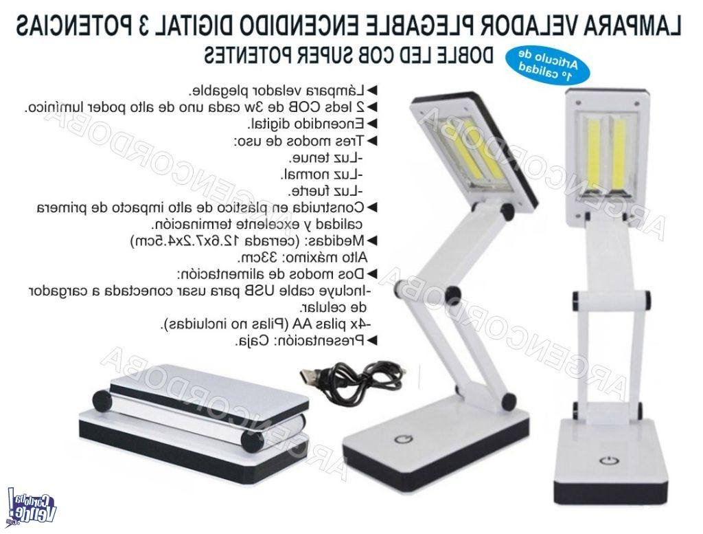 Velador Plegable Nkde Lampara Velador Plegable Encendido Digital 3 Potencias Doble
