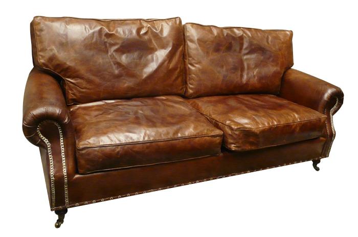 Venta De sofas Online Q0d4 Industrial sofa sofà lester 3 Plazas Estilo Vintage Piel