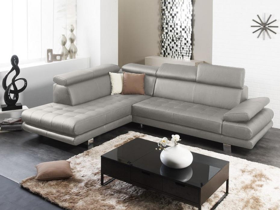 Venta Unica sofas Dddy sofà Rinconero Modulable De Piel Italiana Effleurement