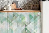 Vinilo Adhesivo Para Muebles Txdf Mosaico De Trià Ngulos Verde Agua Vinilo Para Muebles