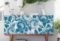 Vinilo Adhesivo Para Muebles U3dh Estampado Floral Azul Vinilo Para Muebles Suelos Y