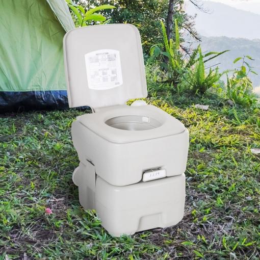 Wc Quimico Portatil Carrefour Bqdd Kleankin Inodoro Portà Til Quà Mico Baà O Wc 20l Con Tapa Para Camping